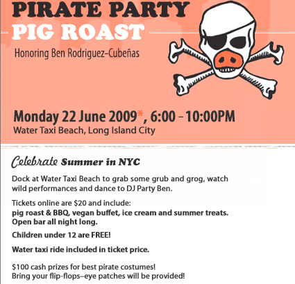 Image result for chashama pirate pig party